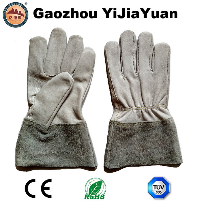 Kevlar Stitching Goat Leather TIG Working Gloves with Cow Split Leather