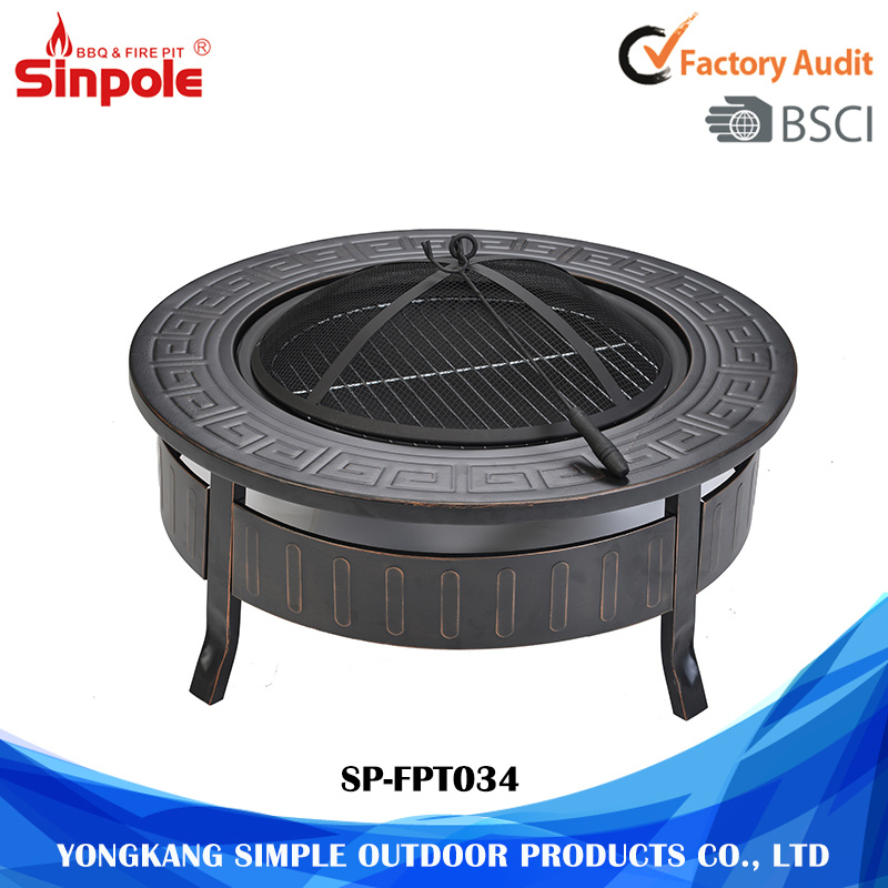 Outdoor Garden Camping Patio BBQ Brazier Fire Pit