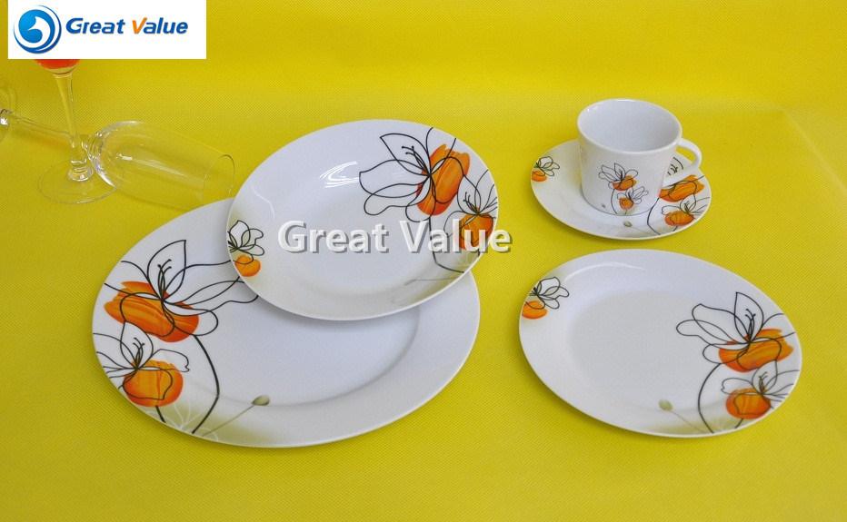 20PCS Cheap Ceramic Tea Plate Factory