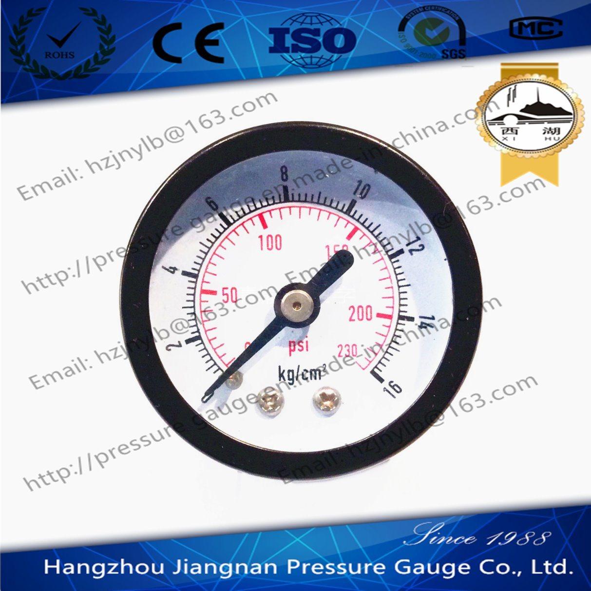 40mm 1.5′′ Axial Direction General Pressure Gauge-Air General Pressure Gauge