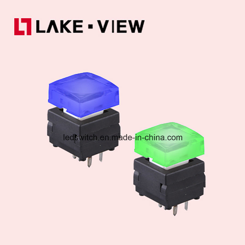 Silent Illuminated Pushbutton Switch with Multiple LED Color Options