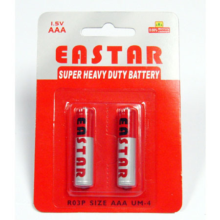 Chinese Battery Manufacture 1.5V Super Heavy Duty Dry Battery (AAA R03, Um-4)
