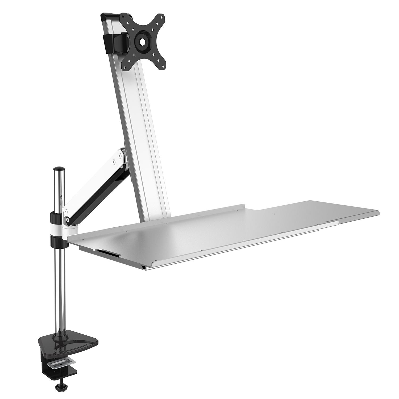 Height Adjustable Desktop Mount with Desk Clamp