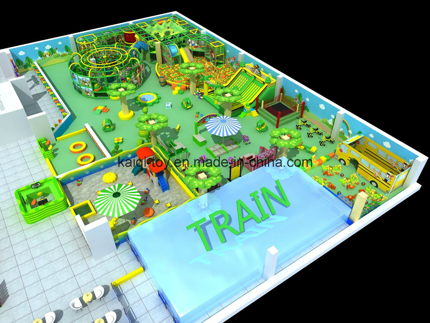 Indoor Playground for Kids Suitable for Shopping Mall