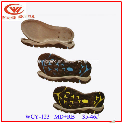 Beach Rubber and EVA Sole Sandals Outsole for Outdoor