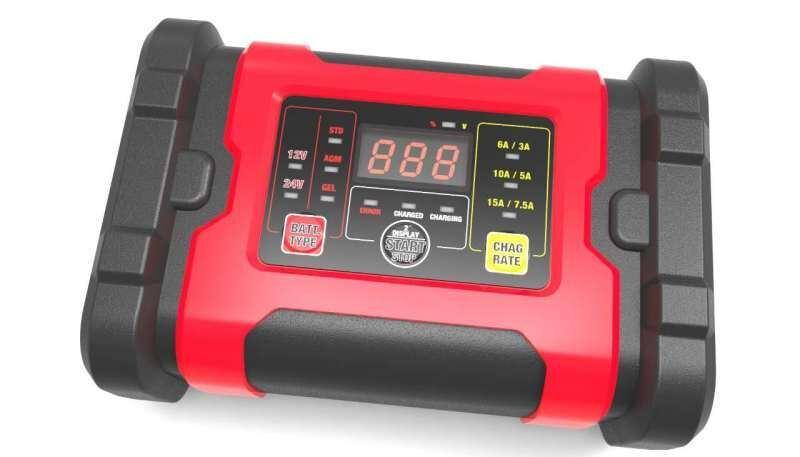 12V/24V LCD Screen Smart Battery Charger