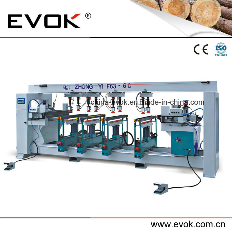Woodworking Automatic Multi-Drill Machine F63-6c