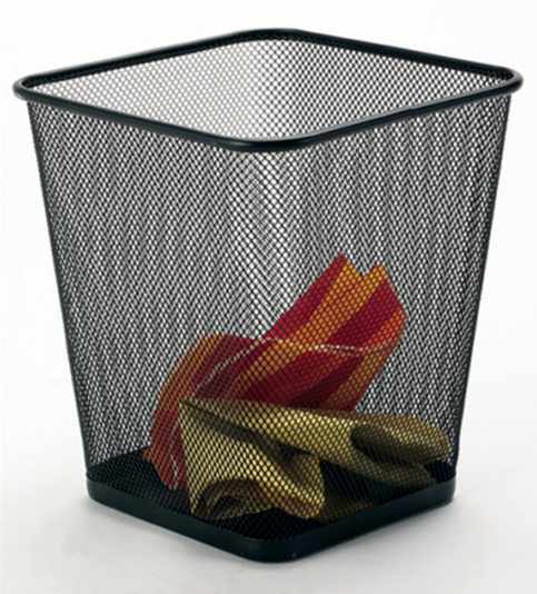 Home Office Accessories/ Metal Home Organization Waste Bin