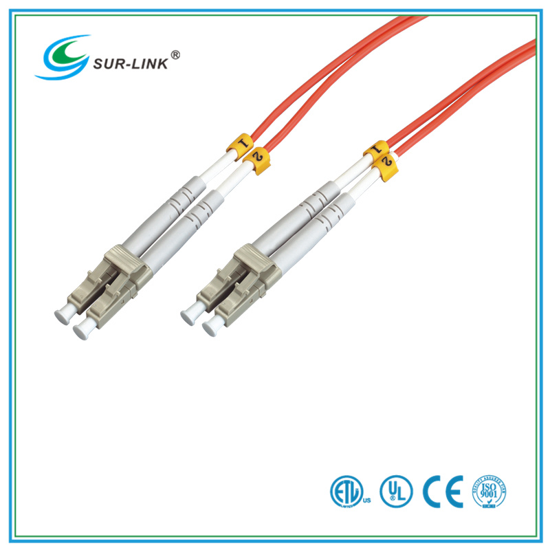 Fiber Optic Patch Cord LC-LC Multi Mode Duplex with Clips