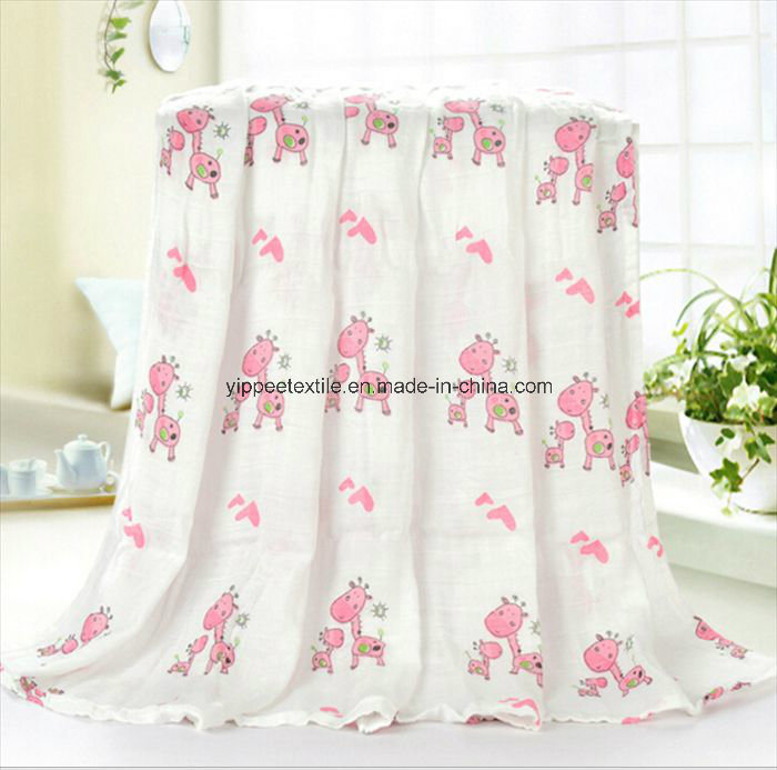 Newborn Baby Muslin Blanket with Pretty Designs