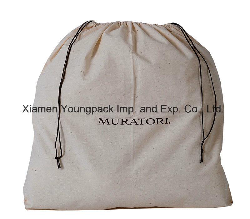Promotional Customized 100% Natural Organic Cotton Drawstring Sack Bag