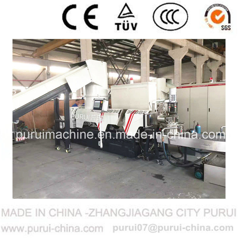 Waste PE Film Plastic Recycling Pelletizer with Agglomerator (PURUI)