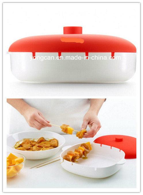Food Grade Plastic Silicone Microwave Brochette Container