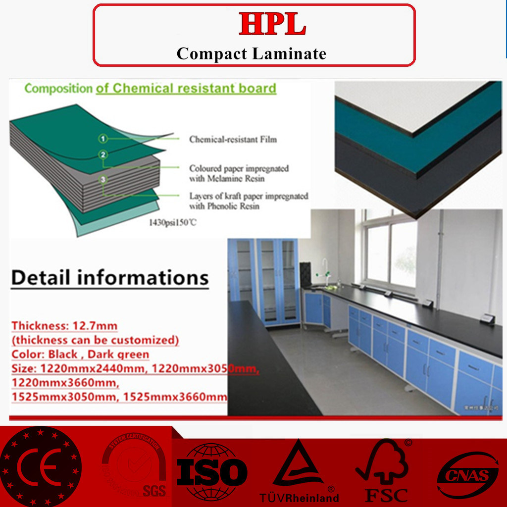 12.7mm Chemical Resistant Compact Laminate