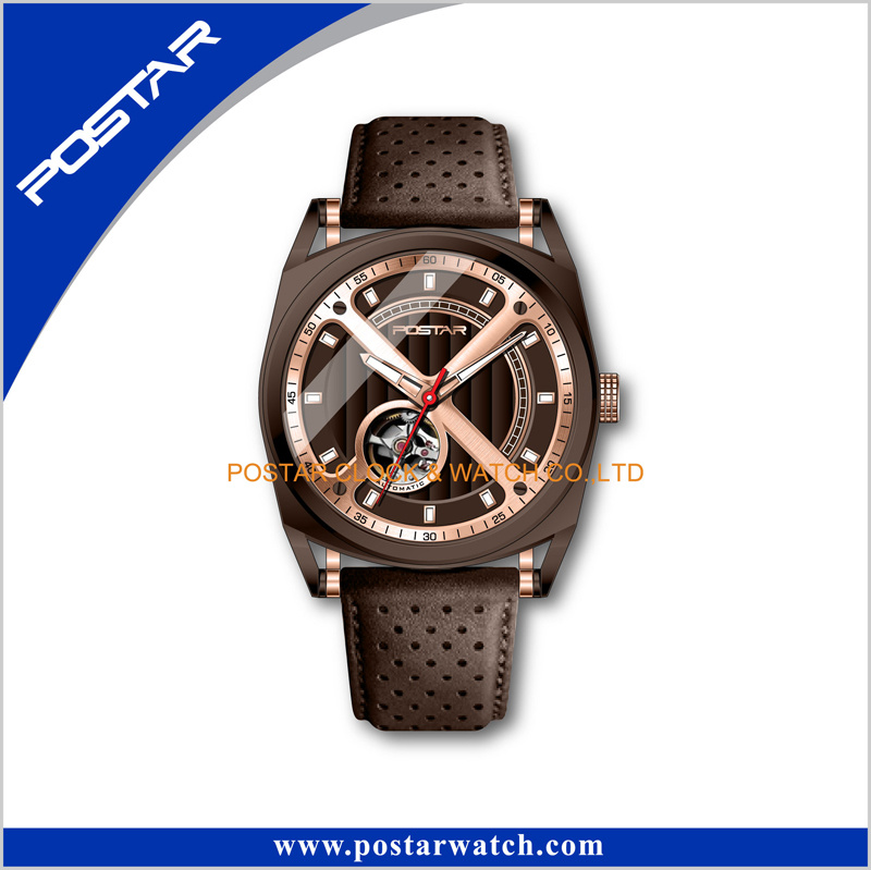 New Fashion Automatic Mechanical Watch for Business Man Watch Skeleton