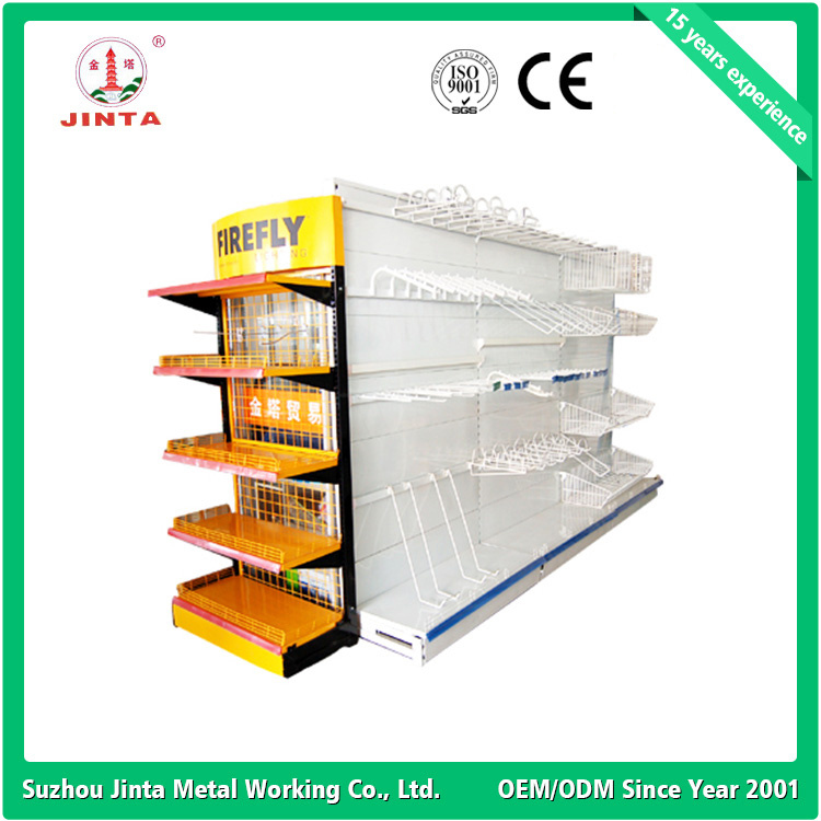 Hot Products in Stock Double Sided Supermarket Rack