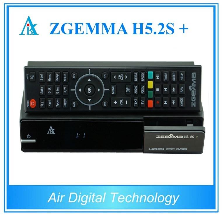 2017 New Powerful Zgemma H5.2s Plus Satellite Decoder Bcm73625 Linux OS E2 Hevc/H. 265 DVB-S2+DVB-S2/S2X/T2/C Triple Tuners