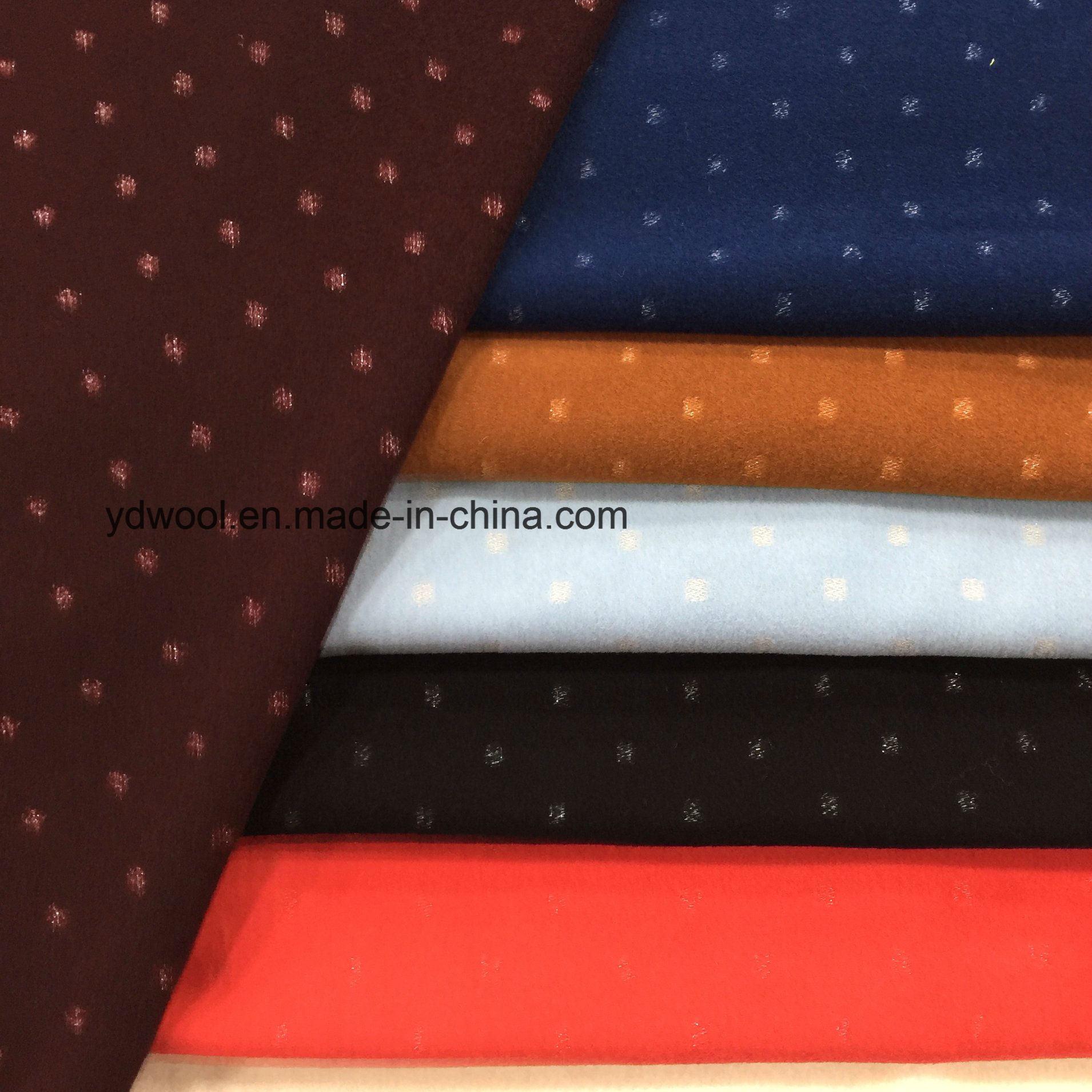 Concave-Convex Silver Yarn Wool Fabric Woollen