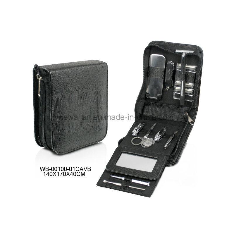 Personal Care Manicure Kit Black Leather Manicure Pedicure Set