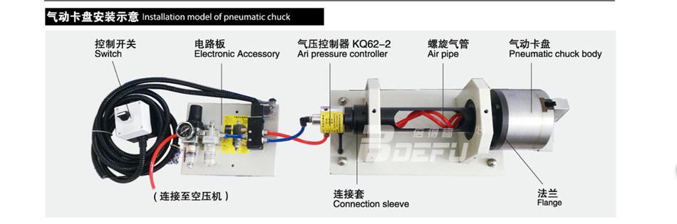 4 Jaw Solid Hydraulical Lathe Chuck Ks200-4