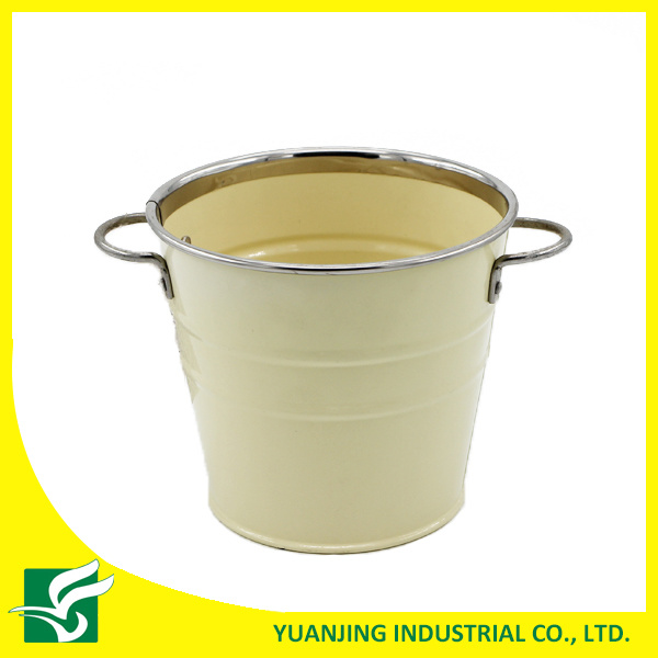 Home Decoration Metal Zinc Bucket with Iron Handle