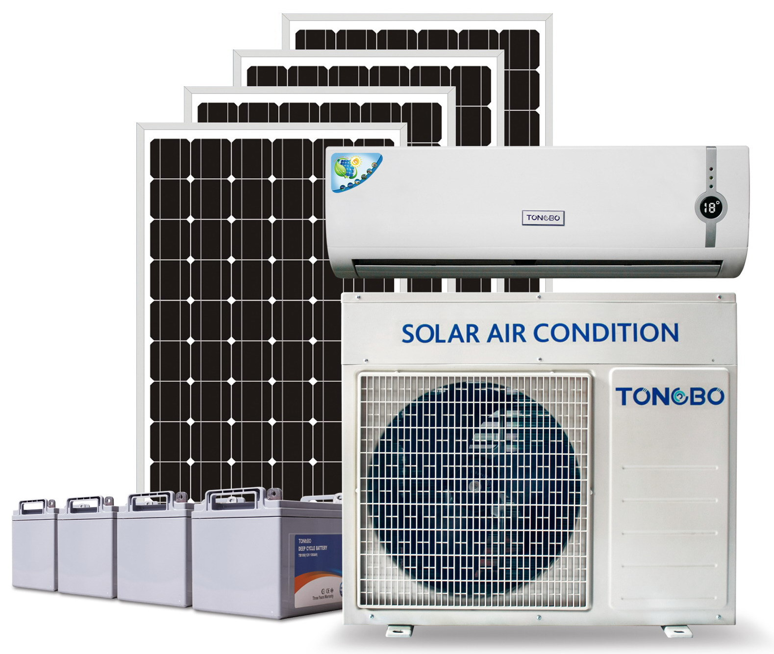 off Grid 100% DC24V Solar Power Air Conditioner 18000BTU
