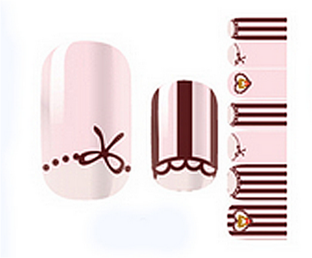 Fashionable Colorful Temporary Water Transfer Nail Sticker