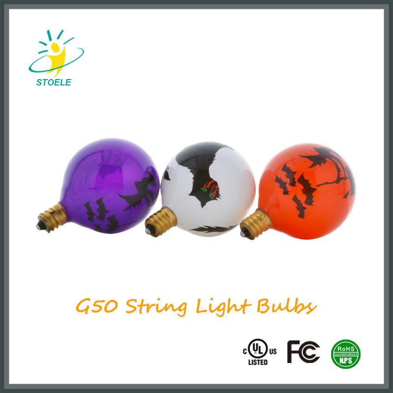 Christmas Bulbs G50 Incadescent String Lighting Customize Bulb