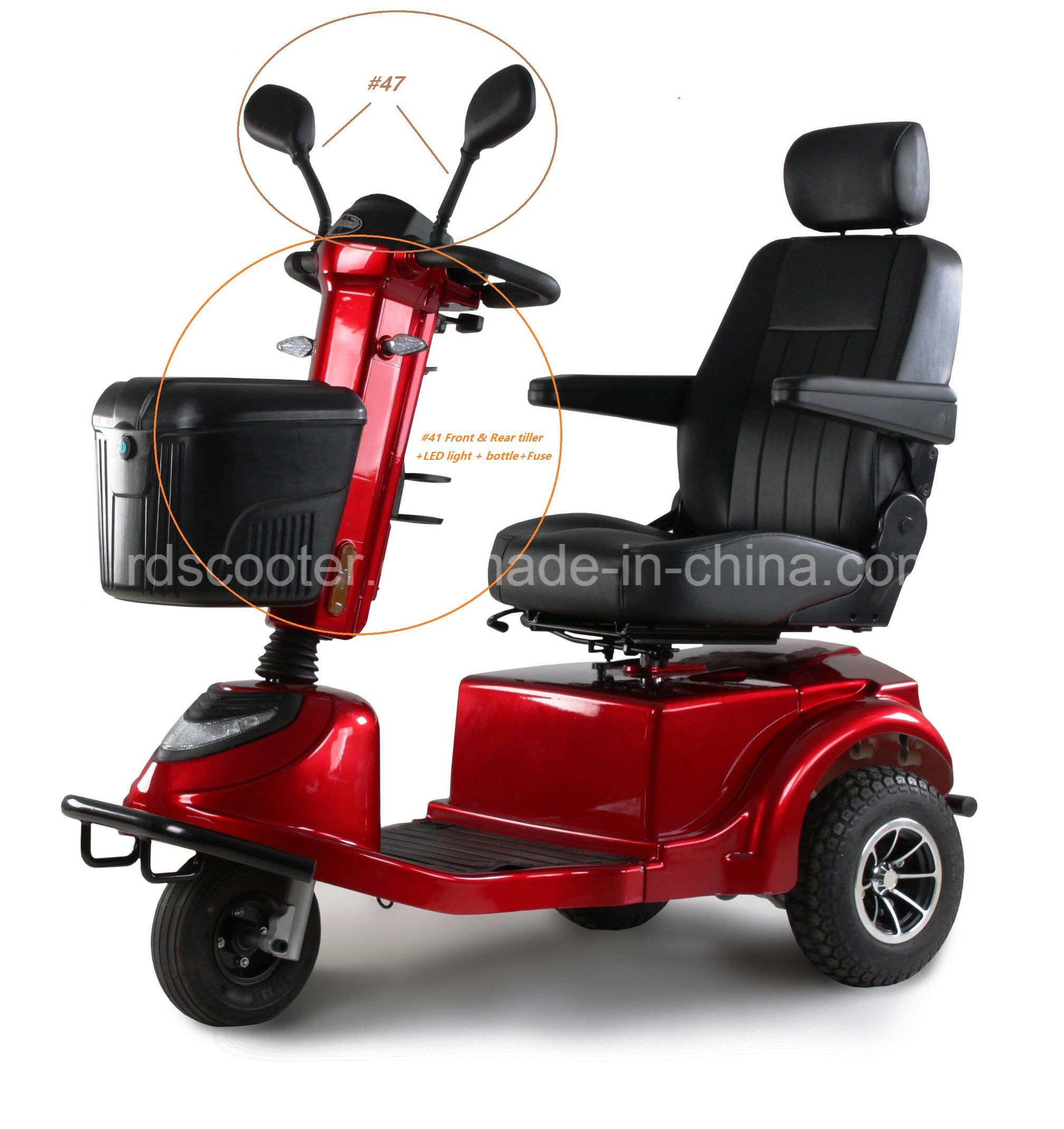 3 Wheel 950W Scooter Disabled Electric Ce Mobility Scooter