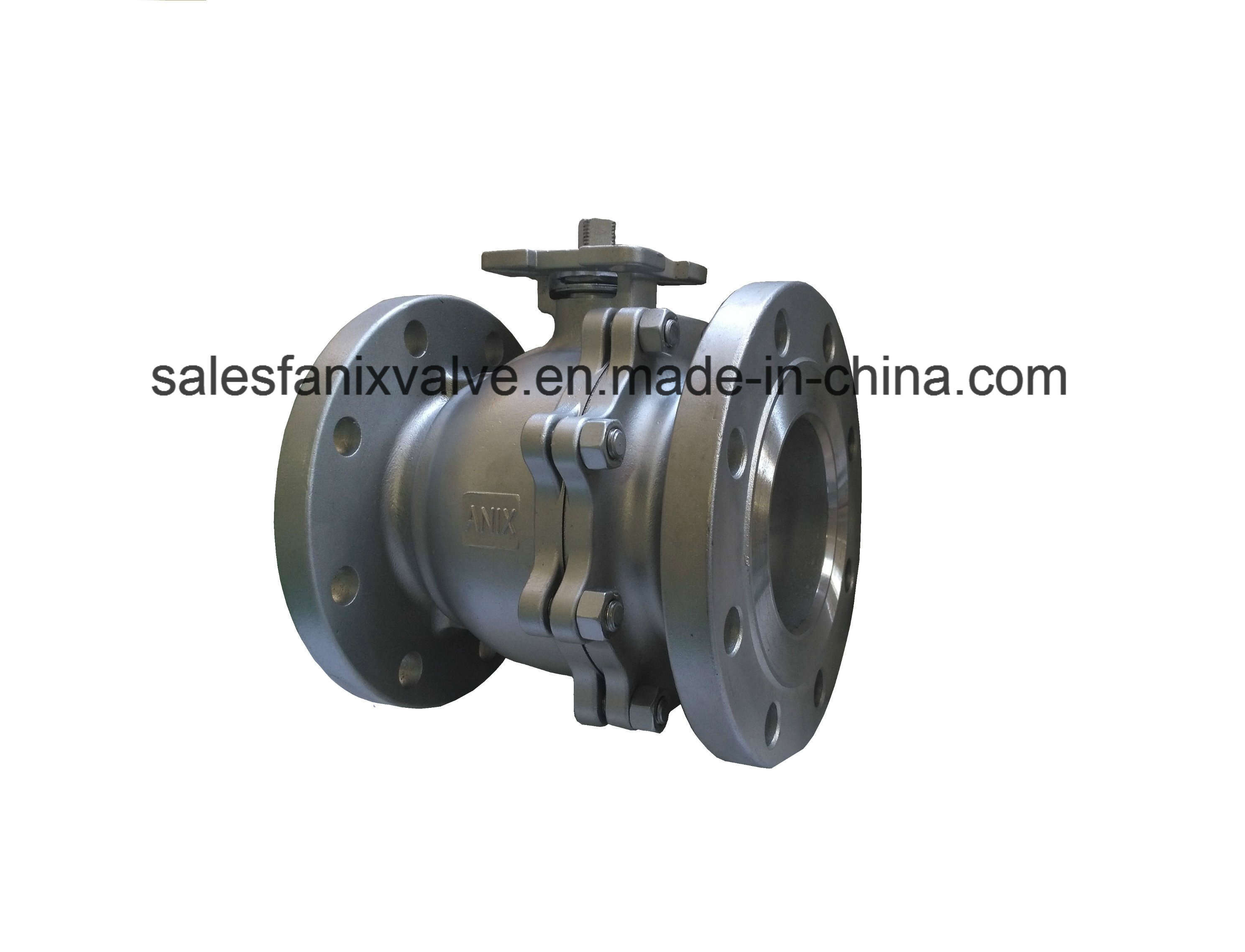 ANSI 2PC Flange Floating Ball Valve