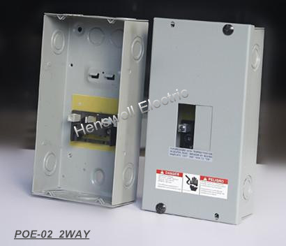 2 Way Plug in Type Distribution Board--Load Center