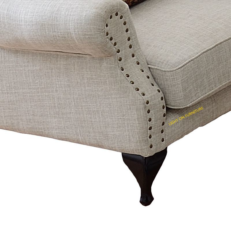 Living Room Leisure Chaise Lounge Fabric Sofa (F722)