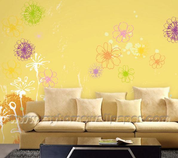 H2 00001 x decorative 2012 wall paper mural pour la pi ce for La peinture murale