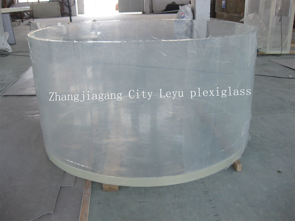 China round acrylic fish tank china acrylic glass high for How to build an acrylic fish tank