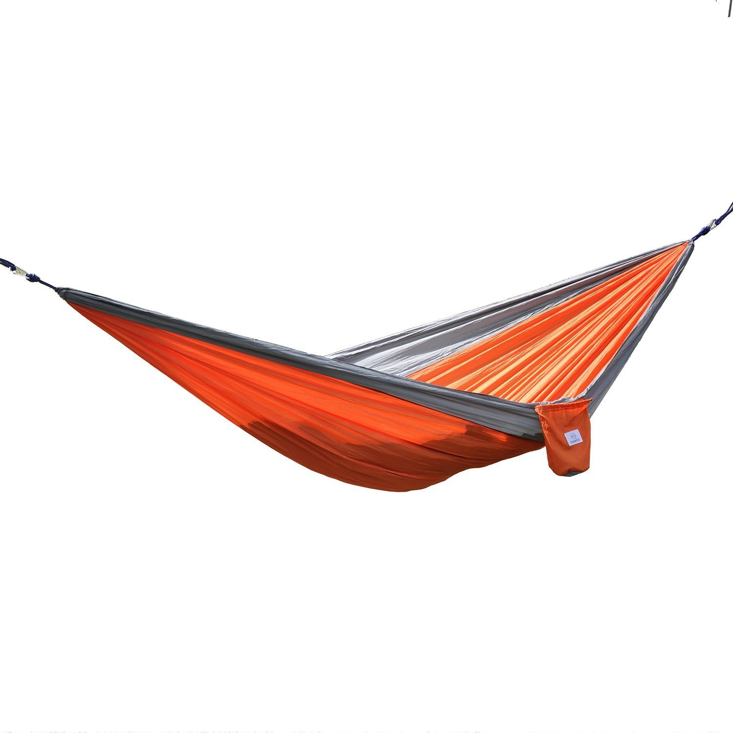 Camping Hammock - Best Quality Gear for Backpacking Survival or Travel - Portable Lightweight Parachute Nylon.