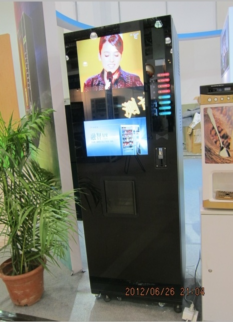 Advertisement Coffee/Cafe Vending Machine with 22 Inch LCD Display (LF-306D-22G)