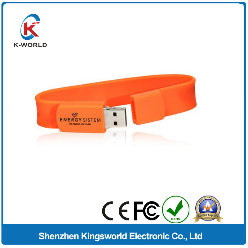 8GB Silicon Bracelet USB Flash Disk with Factory Prices