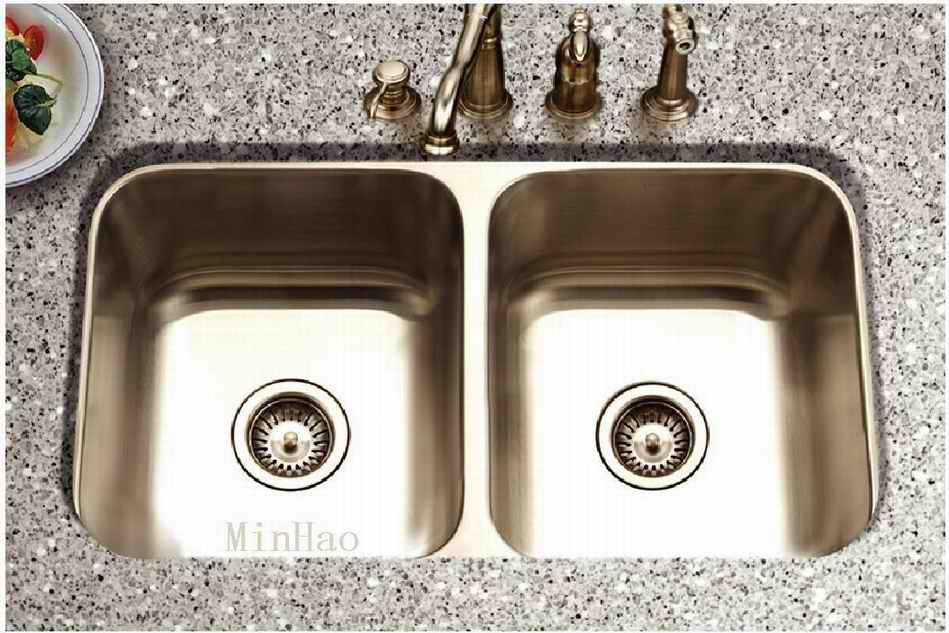 Undermount Stainless Steel Kitchen Sink : China Stainless Steel Kitchen Sinks Undermount Double Bowl (SM319 ...