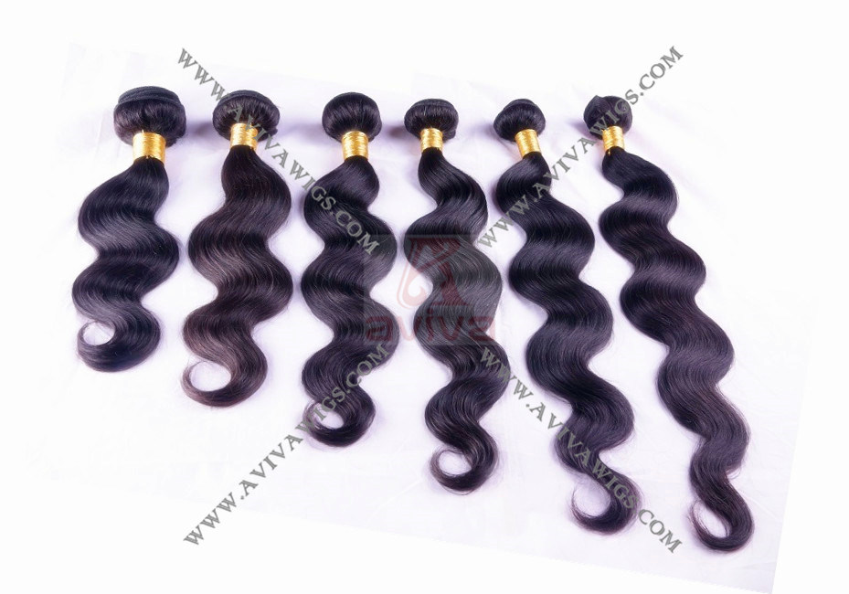 100% Virgin Human Hair Extension Peruvian Hair Weaving