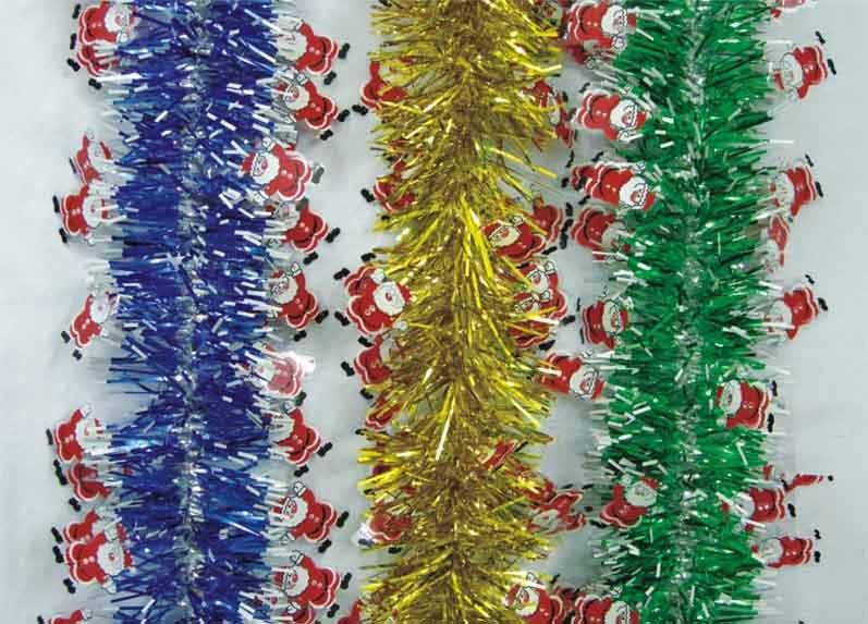 China tinsel garland christmas wreath decoration