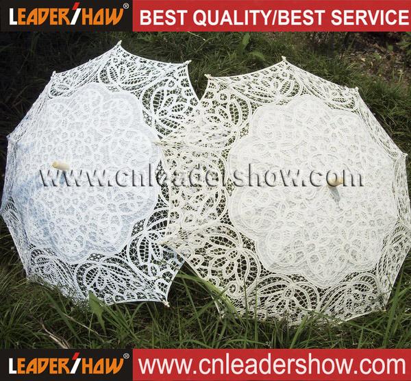Ruffle Wedding Embroidery Voile Bride Parasol Umbrellas