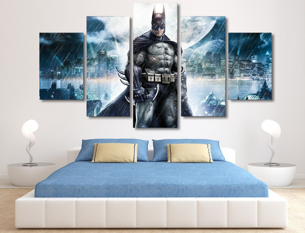 HD Printed Batman Movie Poster Group Painting Canvas Print Room Decor Print Poster Picture Canvas Mc-071