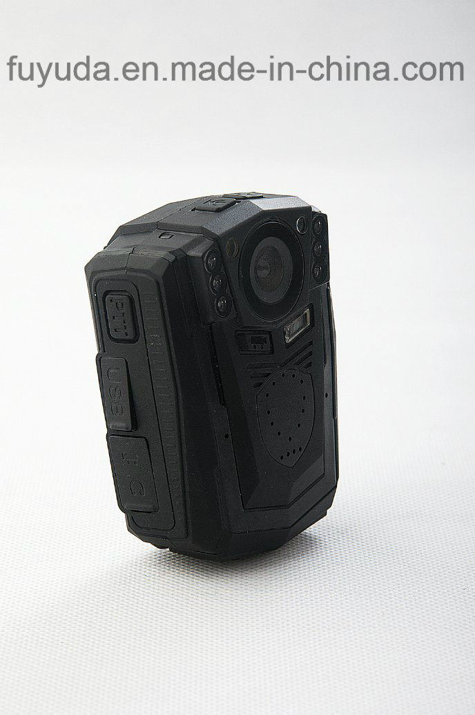 128g Waterproof HD1296p 34W Mini Police Body Worn Camera Body with Night Vision and Alarm