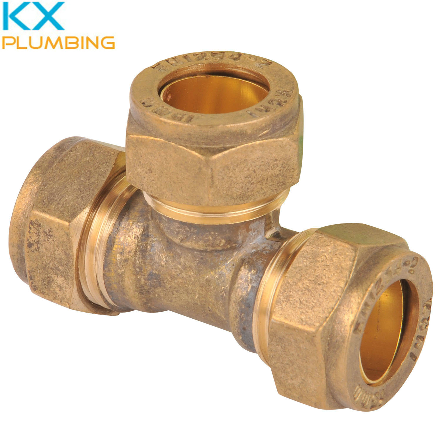 Compression Fitting Tee Equal 15mm