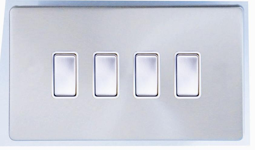 China Screwless Range 4 Gang 2 Way Light Switch Photos