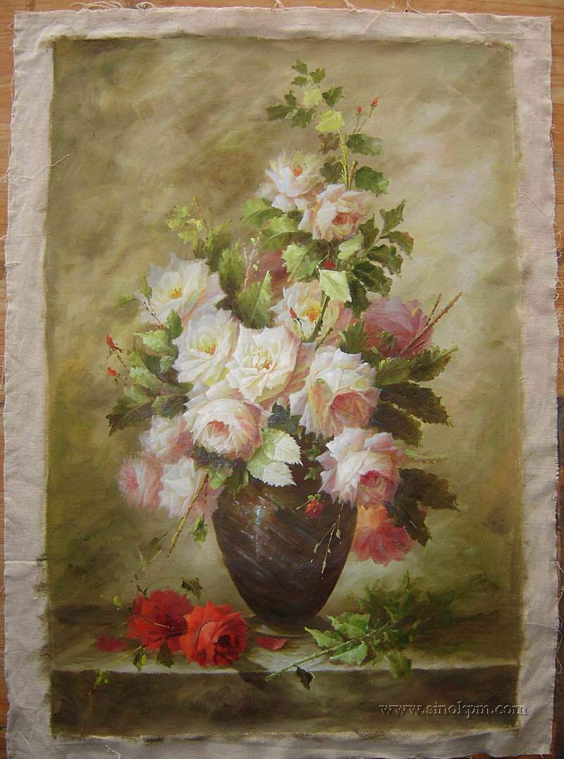Ylolibl painting of flower for Flower paintings on canvas
