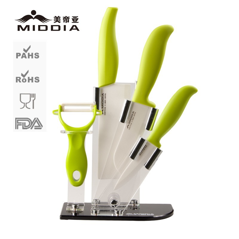 Wholesale 5 Pieces Ceramic Kitchen Knife Set Kitchenware