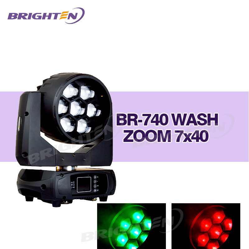 7*40W LED Full Pixel Controlled Wash Moving Lights for Stage
