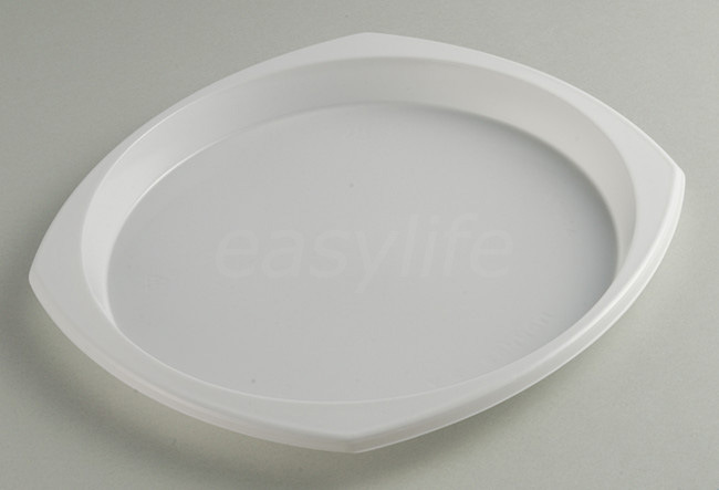 Easylife V242320 (24X23cm) Round Plate PS White
