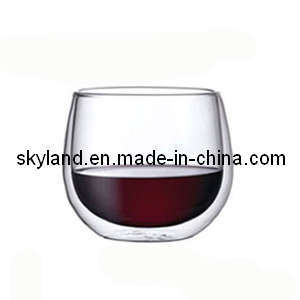 China 200ml Double Wall Glass Coffee Cup China Double